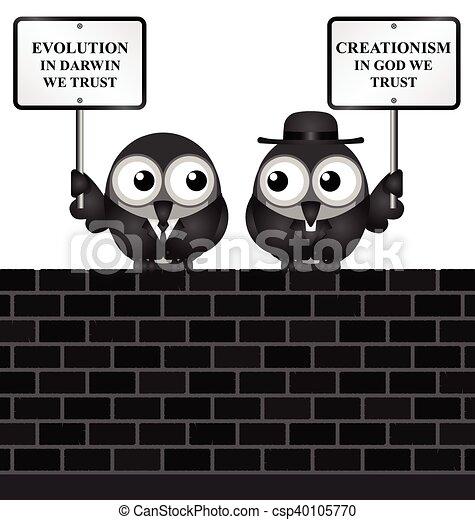 Evolution verses Creationism - csp40105770