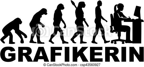 evoluzione, artista, tedesco, -, femmina - csp43560927