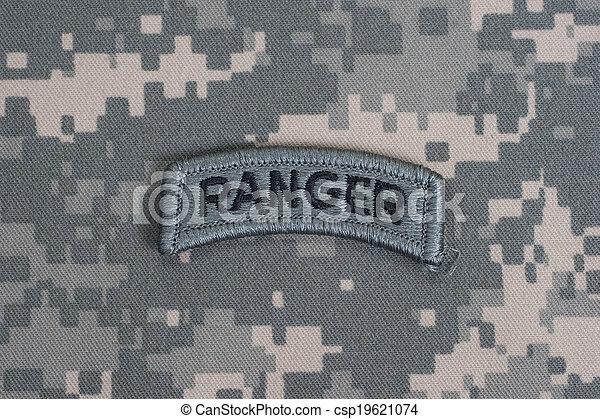exército, nós, uniforme, guarda-florestal, camuflagem, aba - csp19621074