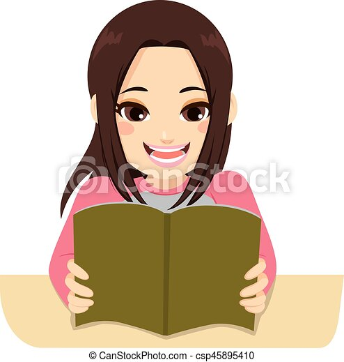 exam studying girl illustration of a young teenager student rh canstockphoto com College Student Studying Clip Art Studying in Bed