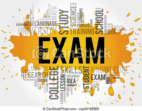 EXAM. Word education - csp34166865