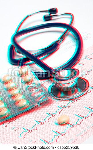 exame, coração, conceito médico, - - csp5259538