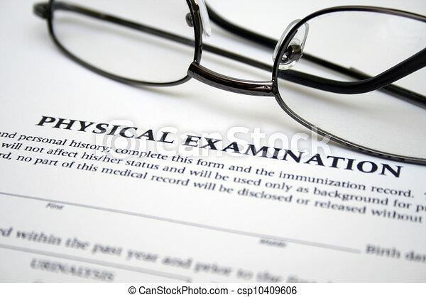 examen, vorm, lichamelijk - csp10409606