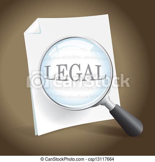 Examinando un documento legal - csp13117664