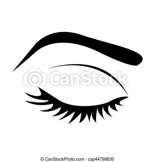 Favori Vecteurs de examiner fermé, couleur, sourcil, femme, silhouette  IQ38