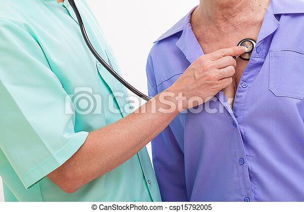 examiner, patient, docteur - csp15792005