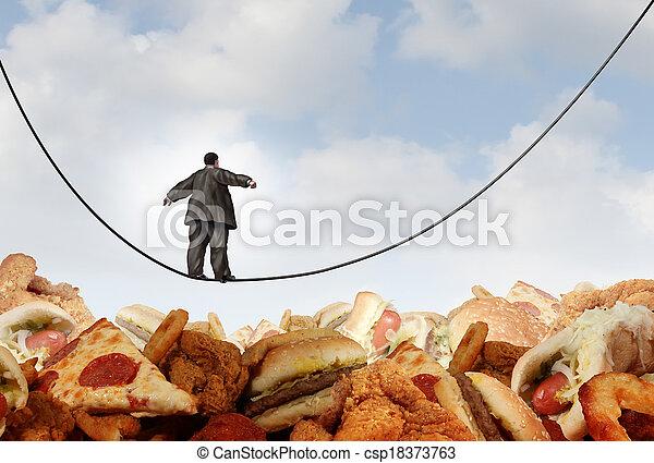 excès poids, régime, danger - csp18373763