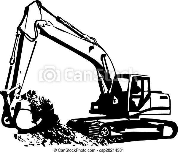 Excavador - csp28214381