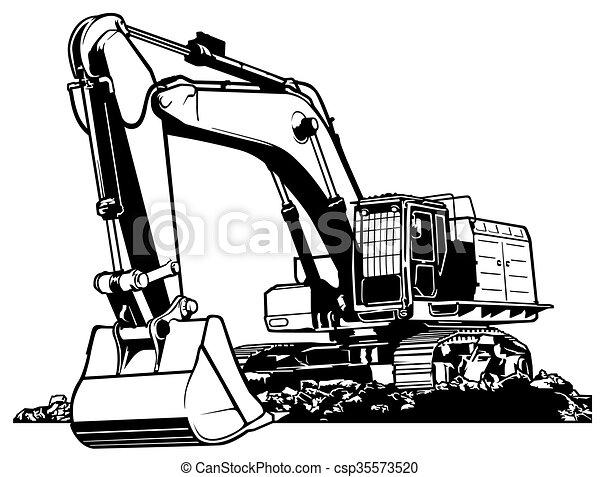 Excavador - csp35573520