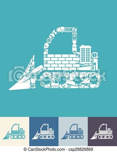 icono Bulldozer - csp28826869