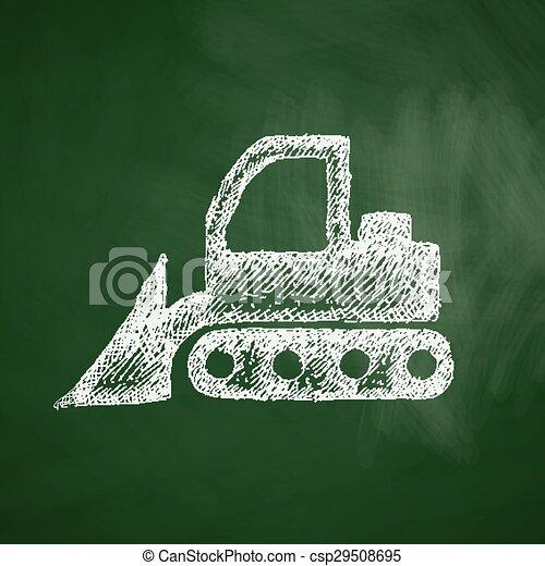 icono Bulldozer - csp29508695