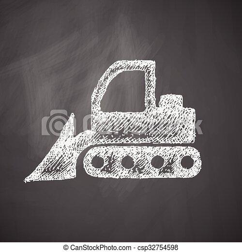 icono Bulldozer - csp32754598