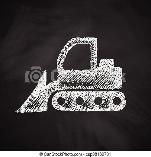 icono Bulldozer - csp38180731