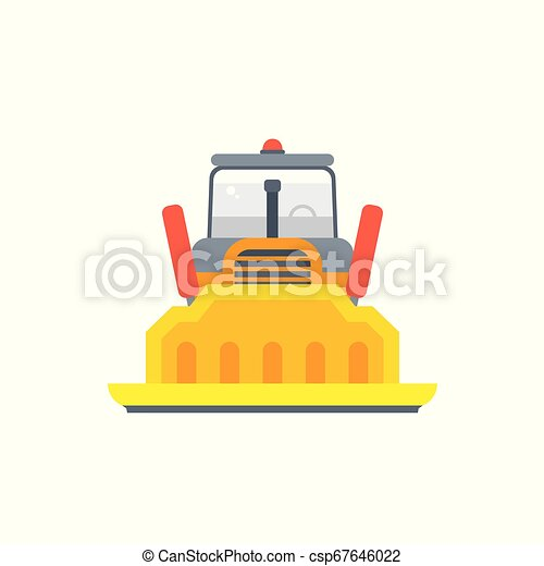 Arrástrense o oruga bulldozer frontal - csp67646022