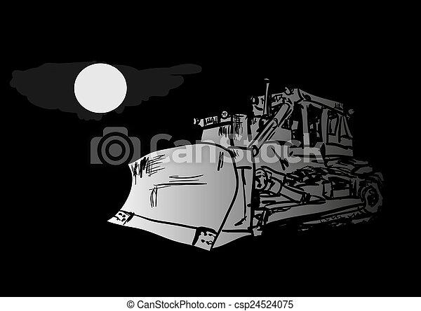 Bulldozer - csp24524075
