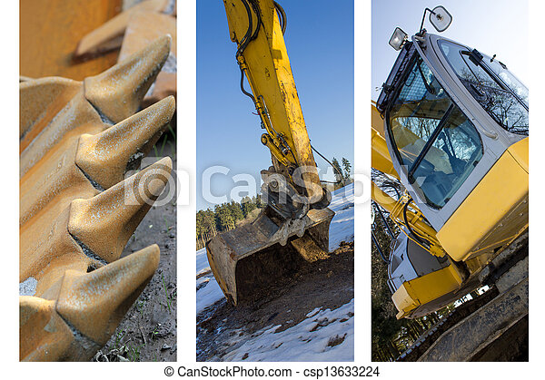 excavateur, collection - csp13633224