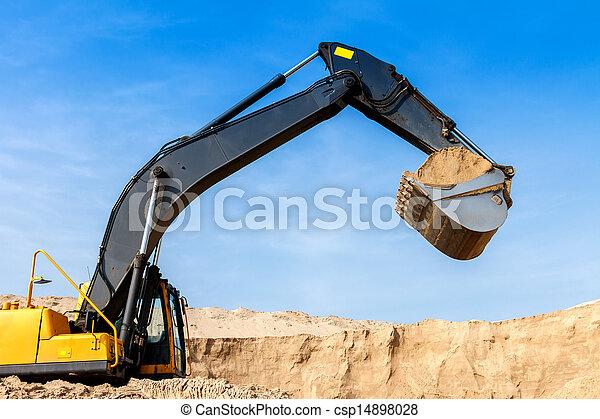 Excavator at Work - csp14898028