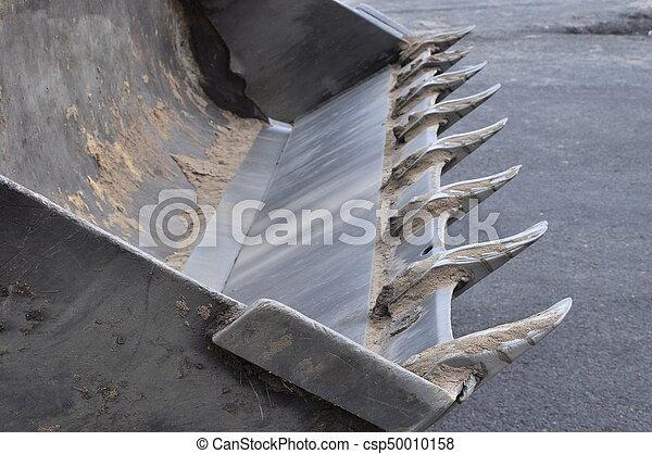 Excavator bucket after work - csp50010158