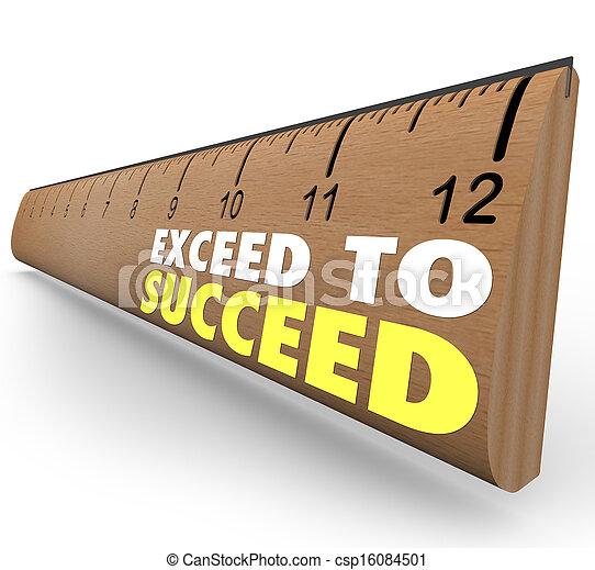 exceed, extra, regla, credito, triunfe, sobre, más allá de - csp16084501