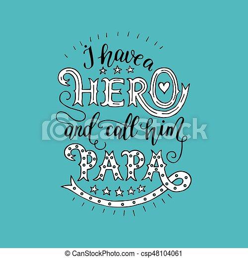 excelente, feriado, cartão, father. - csp48104061