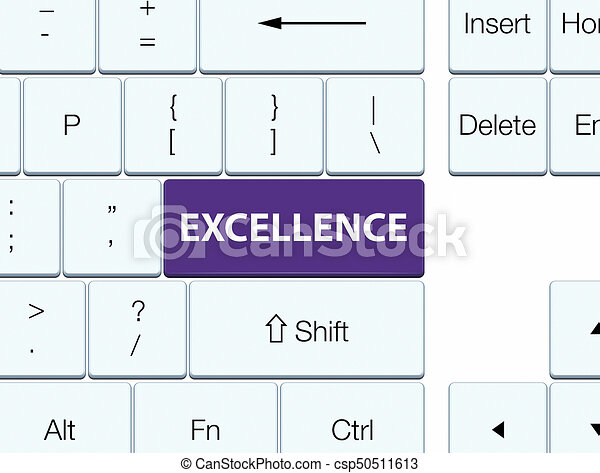Excellence purple keyboard button - csp50511613
