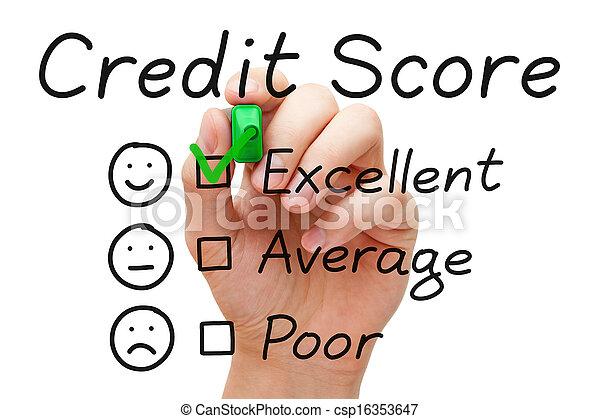 Excellent Credit Score - csp16353647