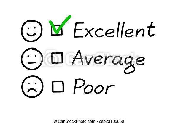 Excellent Customer Survey - csp23105650