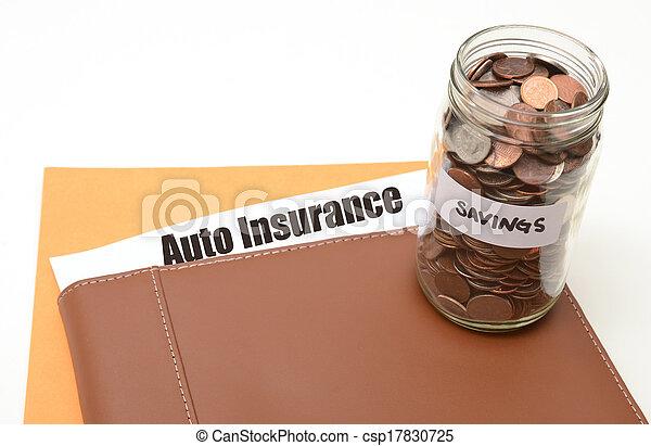 Ahorra dinero en seguros de autos o autos - csp17830725