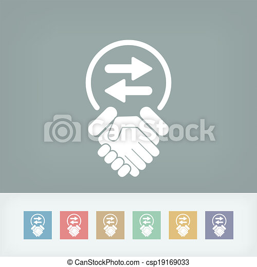 Exchange Agreement Icon Vectors  Search Clip Art Illustration