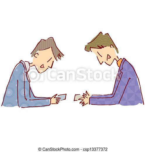 Exchange business cards exchange business cards csp13377372 colourmoves