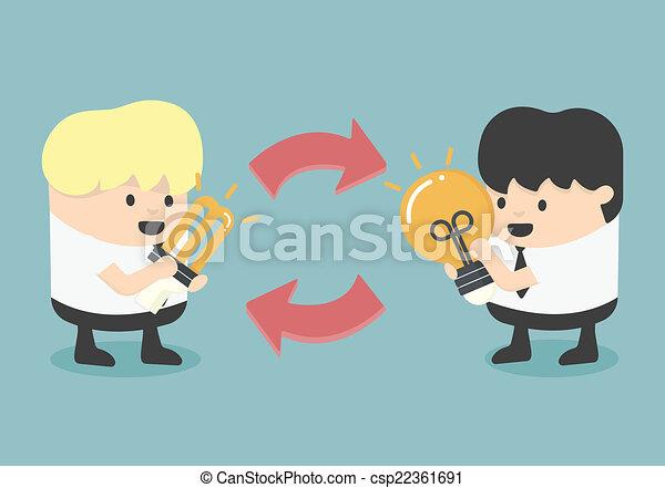 exchange Ideas - csp22361691