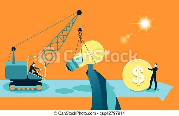 Exchange ideas on money. Business metaphor - csp42797914