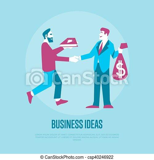 Exchange ideas to money - csp40246922
