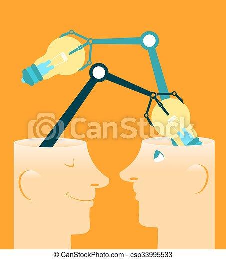 Exchange of ideas - csp33995533