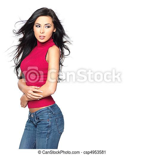 excitado, camisa, vermelho - csp4953581