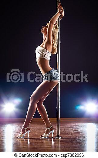 excitado, mulher, jovem - csp7382036