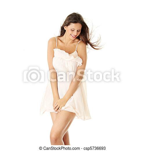 excitado, mulher, saia - csp5736693