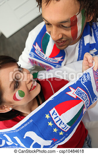 Excited Italian sports fans - csp10484618