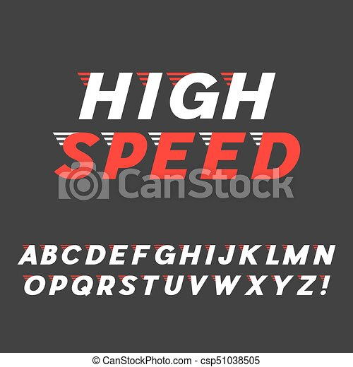 exclamação, sans, speed , alphabet , font , mark , dinâmico, letras,  typeface , serif, latim, itálico, vector