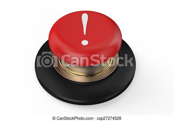exclamation mark ! button - csp27274528