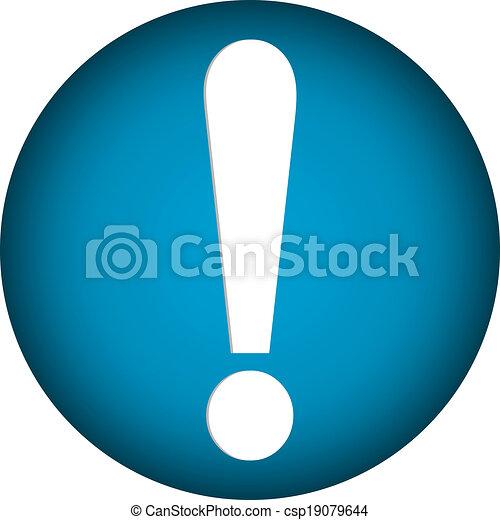 Exclamation mark button - csp19079644