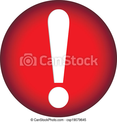 Exclamation mark button - csp19079645