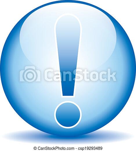 Exclamation mark button - csp19293489
