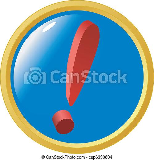 exclamation mark button - csp6330804