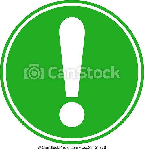 Exclamation mark button - csp23451778