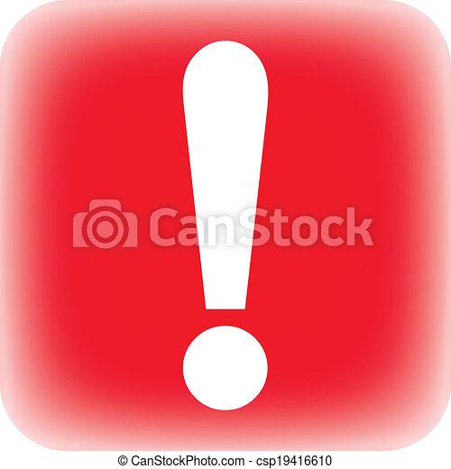 Exclamation mark button - csp19416610