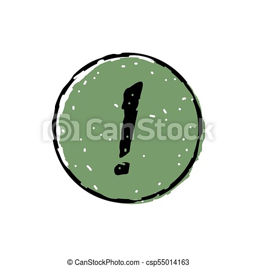 Exclamation mark icon - csp55014163