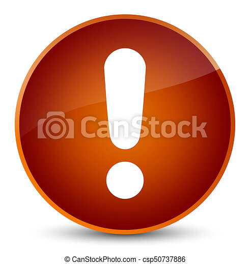 Exclamation mark icon elegant brown round button - csp50737886