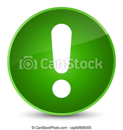 Exclamation mark icon elegant green round button - csp50695055