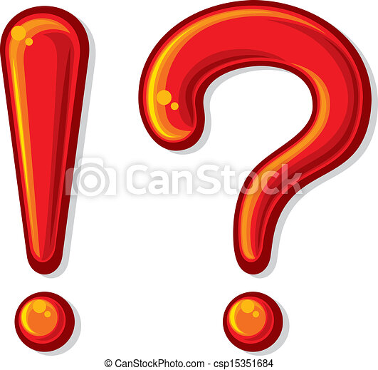 exclamation point and question mark exclamation point and a rh canstockphoto com  exclamation marks clipart
